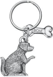 product image for Danforth - Dog & Bone Pewter Keyring