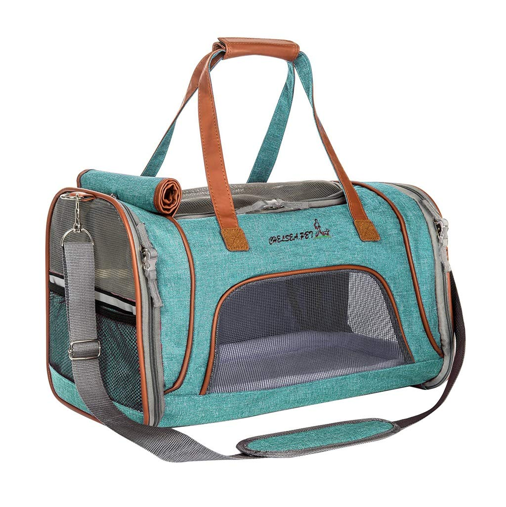 Travel Tote Pet Dog Cat Carrier Airline Approved Carriers Collapsible Dog Travel Crate for Small and Medium Dogs
