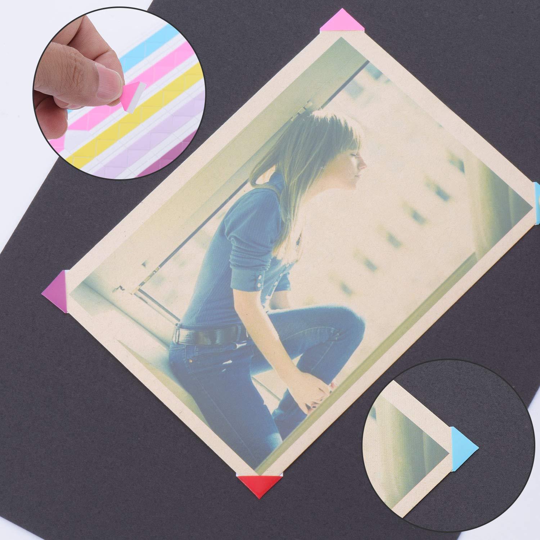 Fanrel - Papel para álbum de recortes (20 unidades, 10,43 x 7,28 cm), diseño de páginas de recambio, 4 esquinas de fotos y 1 tijera para álbum: Amazon.es: ...
