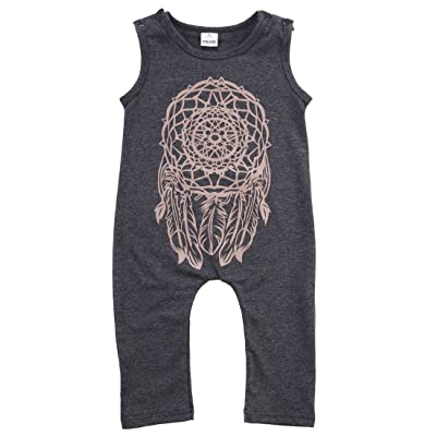 Albee Yang Kids Baby Girl Sleeveless Jumpers Rompers Bodysuit Playsuit Outfits
