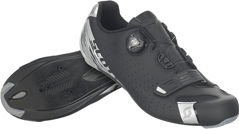 Scott Road Comp Boa – Zapatillas de ciclismo para hombre negro mate/plata, 45.0: Amazon.es: Deportes y aire libre