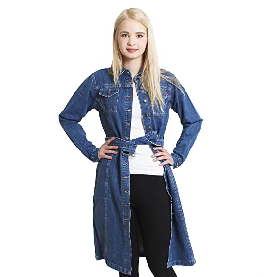 Brubaker Designer Jeansmantel US Women s - Blue - Medium  Amazon.co ... 4601ac53e5
