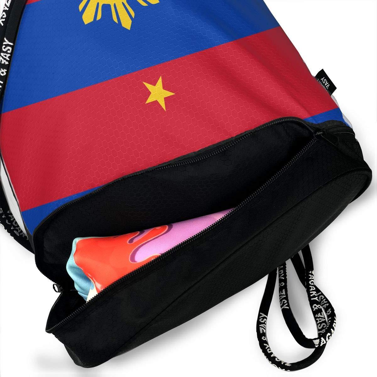 7cdcc3d586c1 Amazon.com  Originality Philippines Flag Drawstring Bag Rucksack Shoulder  Bags Travel Sport Gym Bag Print - Yoga Runner Daypack Shoe Bags with Zipper  and ...