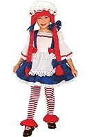 Girls Rag Doll Kids Child Fancy Dress Party Halloween Costume