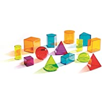 Learning Resources LER4331 View-Thru Geometric Solids, 14 Coloured