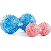 enducore Duoball - Faszienball inkl. Anleitung für Selbstmassage & Faszientraining - ideal für Nacken und Rücken - Twinball Massagerolle - Faszienrolle - Härtegrad mittel - 8 cm, 12 cm oder ALS Set