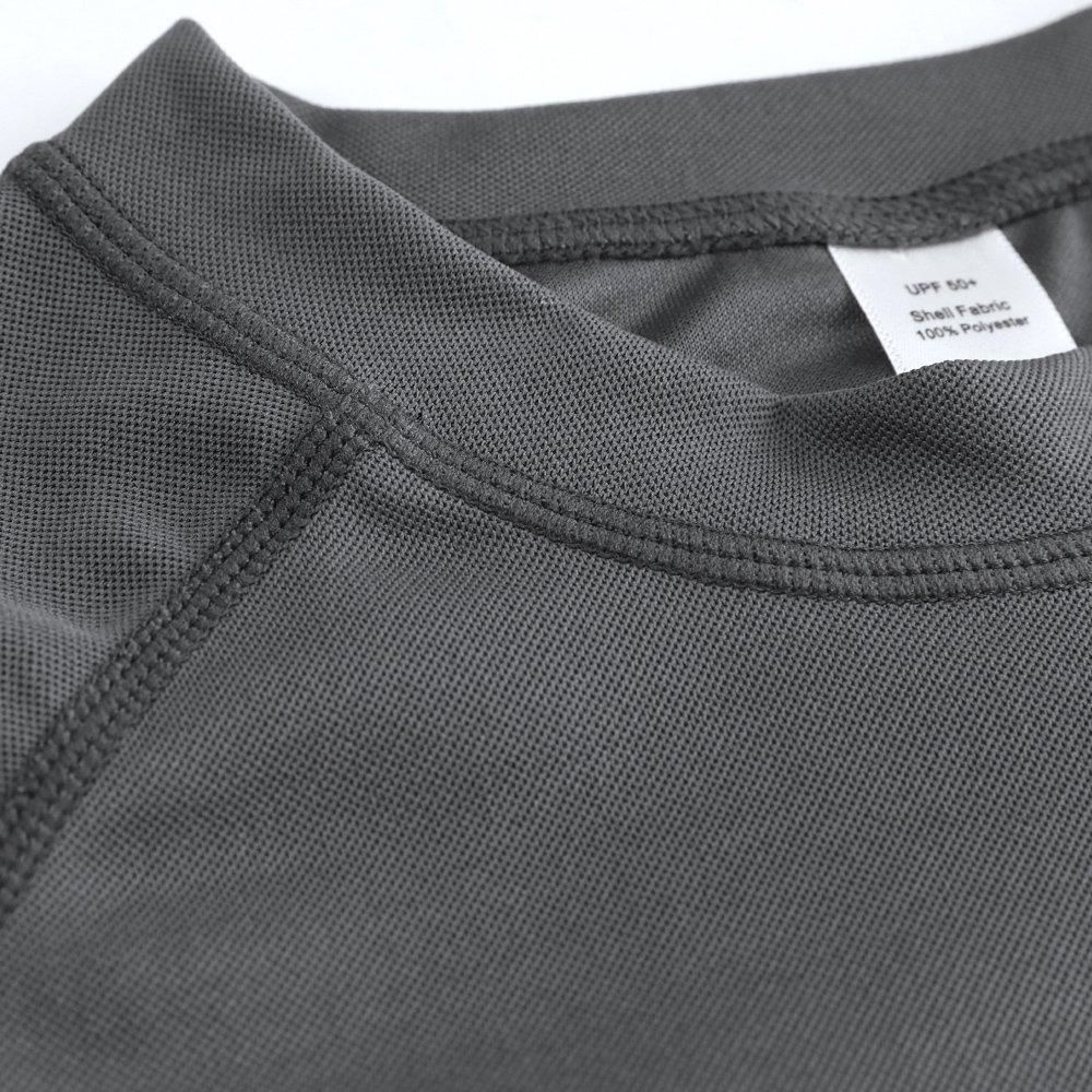 CharmLeaks Boys Short Sleeve Rash Guard Swimwear Top UV Sun Protection Shirts