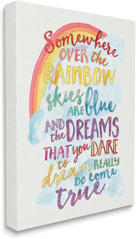 The Kids Room by Stupell Somewhere Rainbow Canvas Wall Art, 24x30, Design By Artist Erica Billups