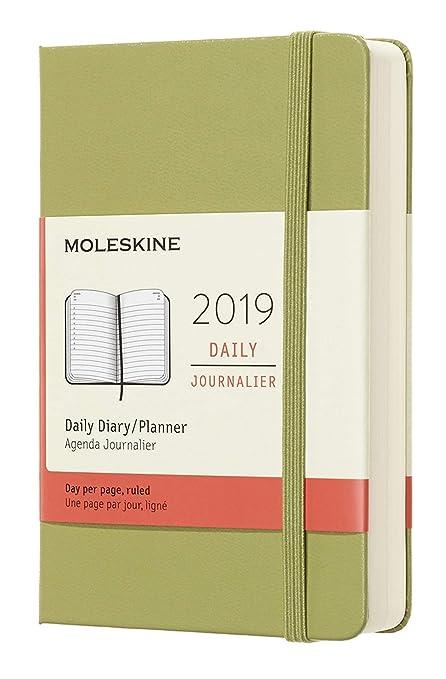 Moleskine DHK2512DC2Y19 - Diario 12m de bolsillo de tapa dura, color verde liquen