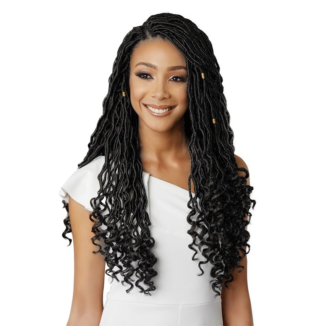 Amazon Eerya Goddess Faux Locs Crochet Hair Braids Wavy With
