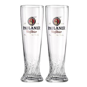 Gläser  PAULANER BIER GLÄSER SET 6er 0,5 Liter NEU WEIZENBIER: Amazon.de ...