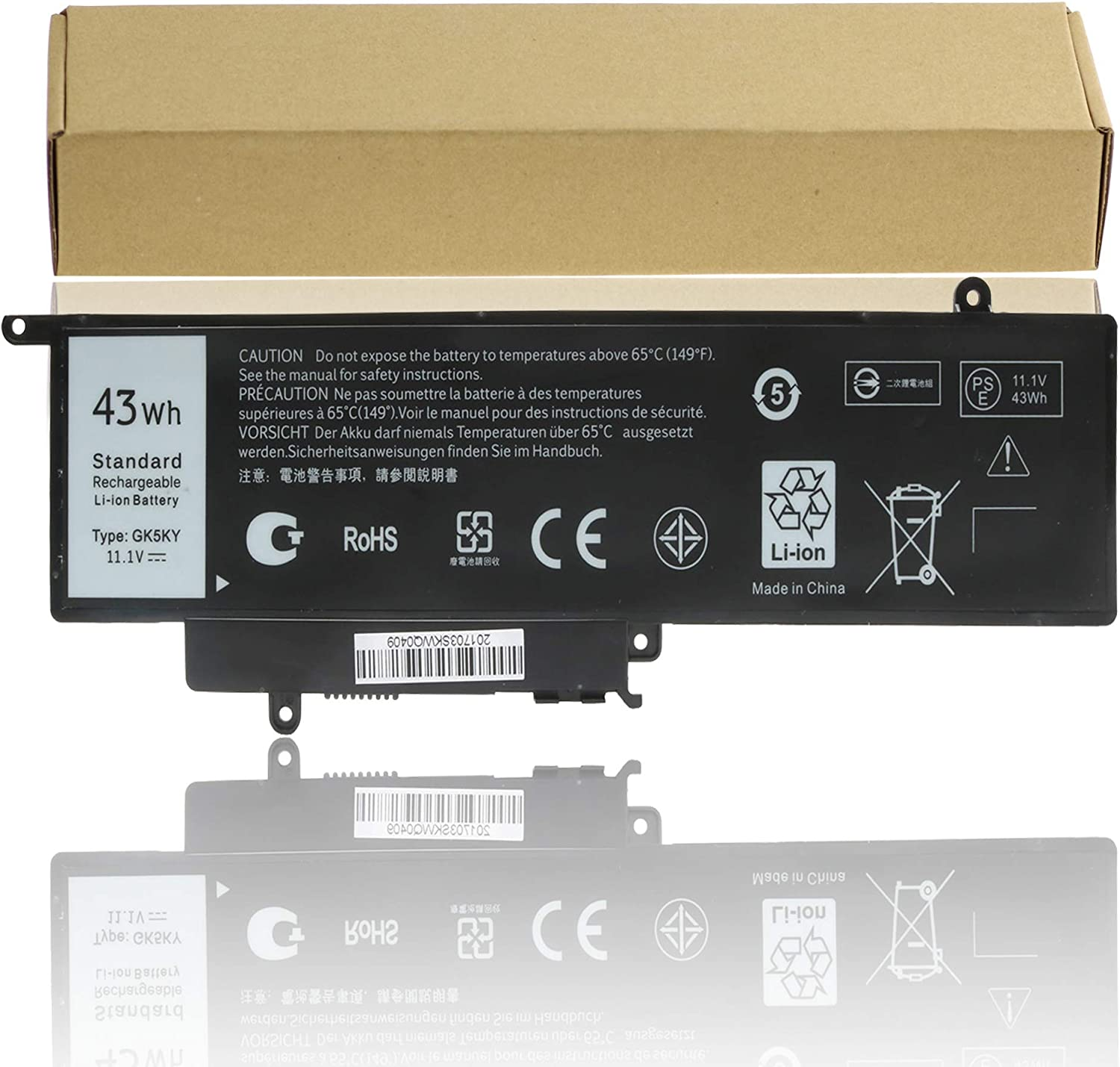 GK5KY New Laptop Battery for Dell Inspiron 11 3000 3147 3152,13 7352 7353 7348 7359, Compatible P/N 04K8YH 92NCT 092NCT 4K8YH P20T Notebook PC