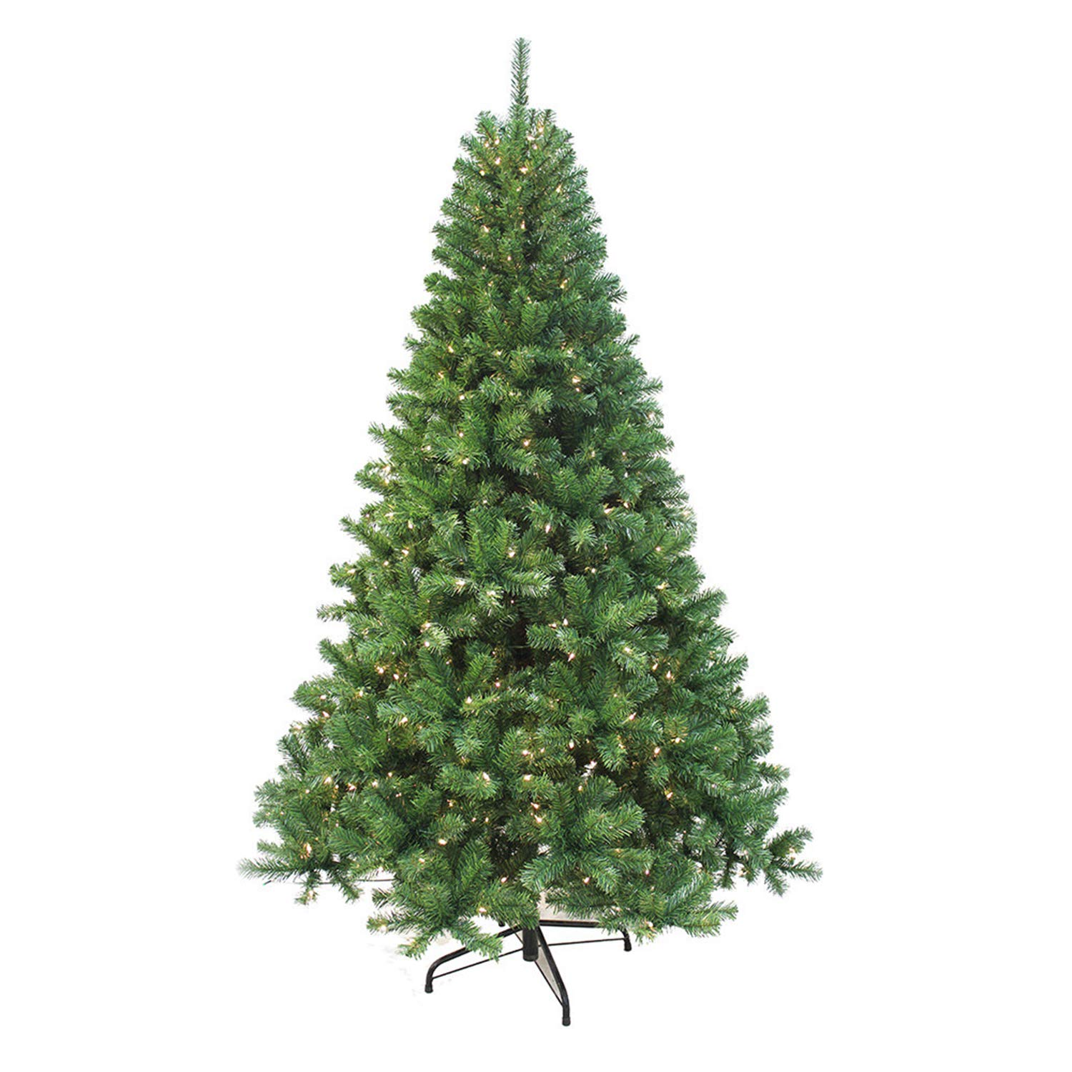 Puleo International Puleo Co 7.5-Foot Pre-lit Augusta Pine Tree Christmas Décor Green