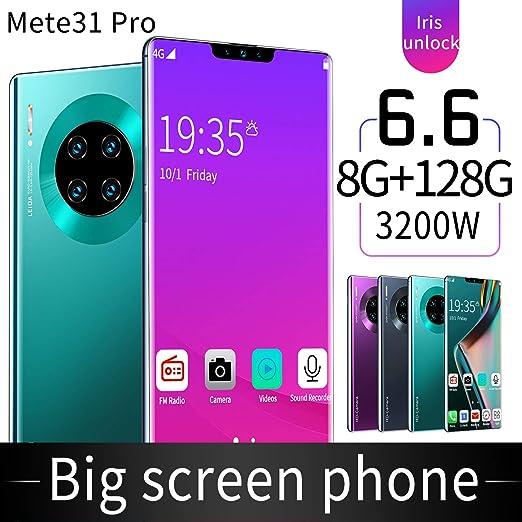 EnweWin 4G Smartphone, Android 10, 6,6 Pulgadas de Pantalla Gotas de Agua, Teléfono Móvil + 32MP 16MP Triple Cámara de 8 GB + 128 GB, Ranura Dual, 4500mah de La Batería,Verde: Amazon.es: Hogar