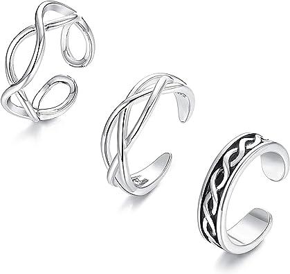 Celtic plaqué or rose sur argent sterling Infinity Knot Ring Bijoux toute taille