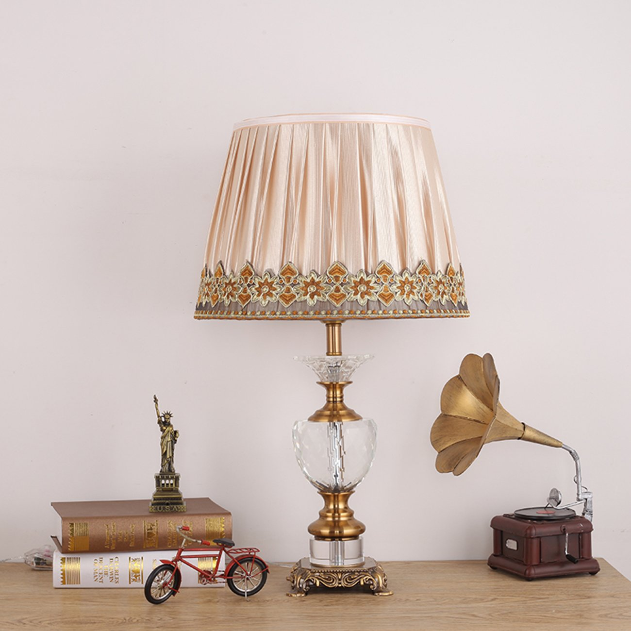 Garwarm Crystal Flower Table Lamps For Living Room Bedroom,3560CM/13.723.6 Inch WH
