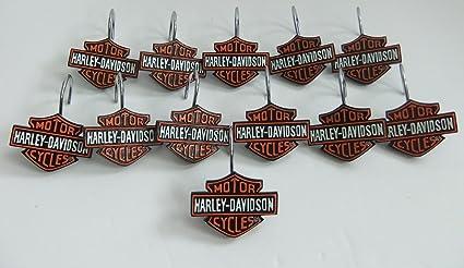Harley Davidson Motor Cycles Shower Curtain Hooks