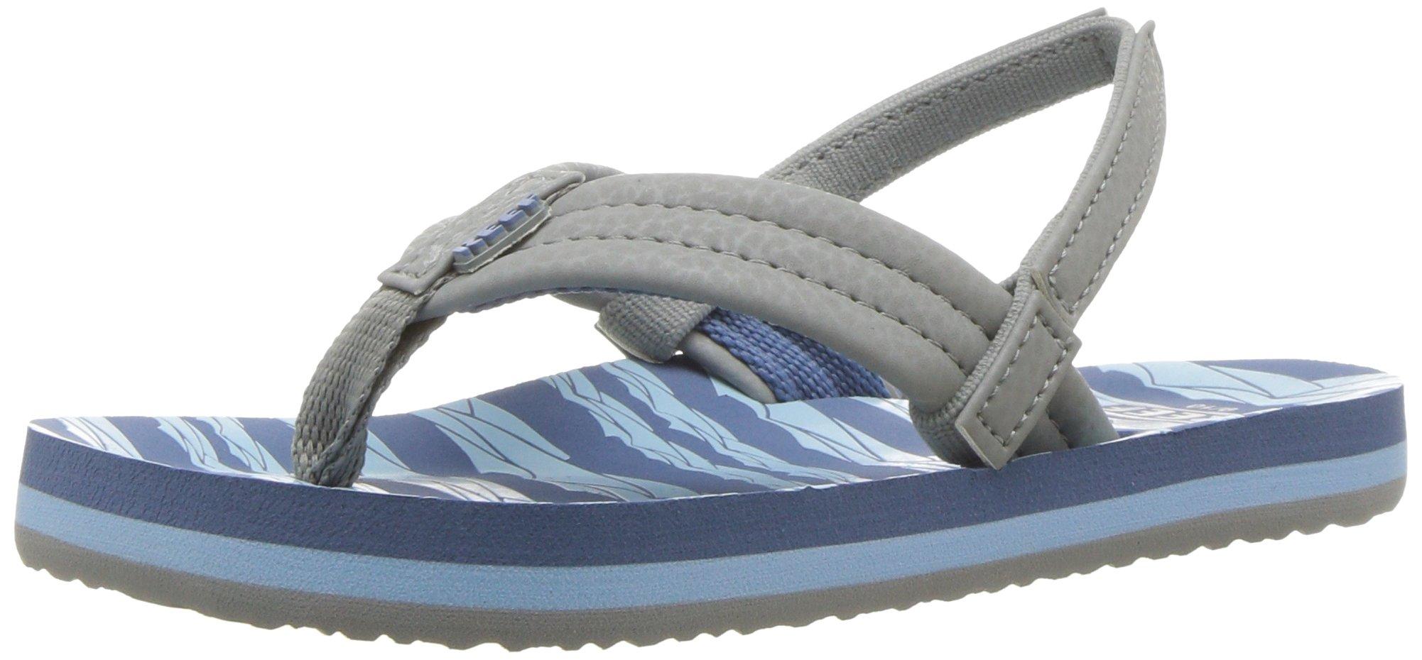 Reef Boys' Ahi Sandal, Blue/Grey Ocean, 11-12 Little Kid