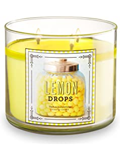 Bath And Body Works 3 Wick Scented Candle Lemon Drops 145 Ounce