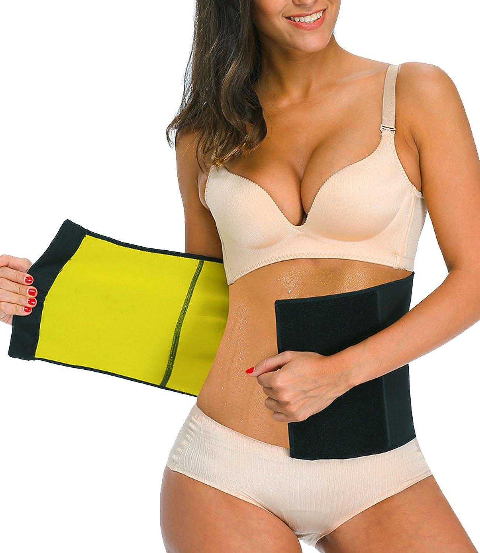 LAZAWG Women Sweat Sauna Waist Trainer Body Shaper Slimming Belt for Weight Loss CA039LAZAWG