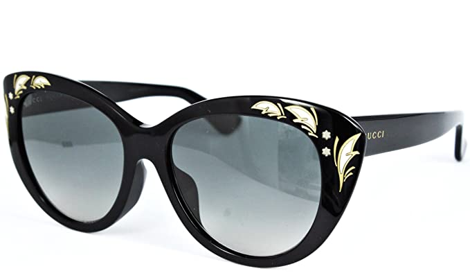 97129f4174f GUCCI GG3828 F S Feather Black Mother Of Pearl Sunglasses ASIAN FIT ...