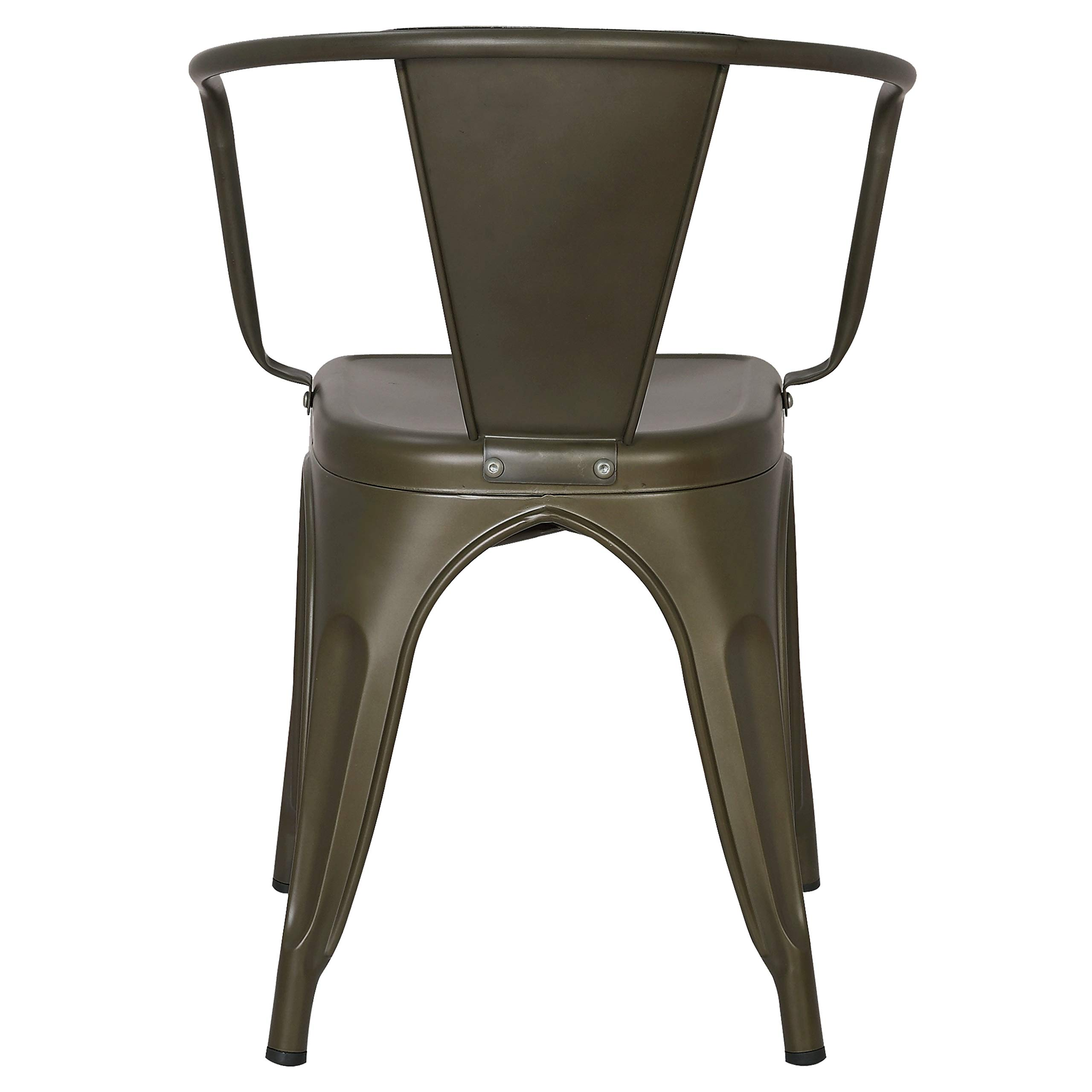 Poly and Bark Trattoria Arm Chair in Bronze (Set of 4) by POLY & BARK (Image #5)