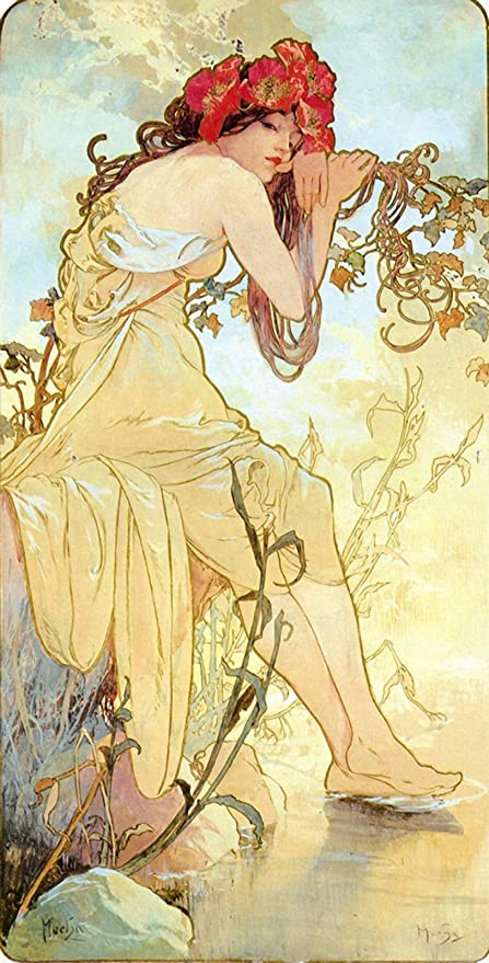 Alphonse Mucha  Seasons Summer Giclee Canvas Print