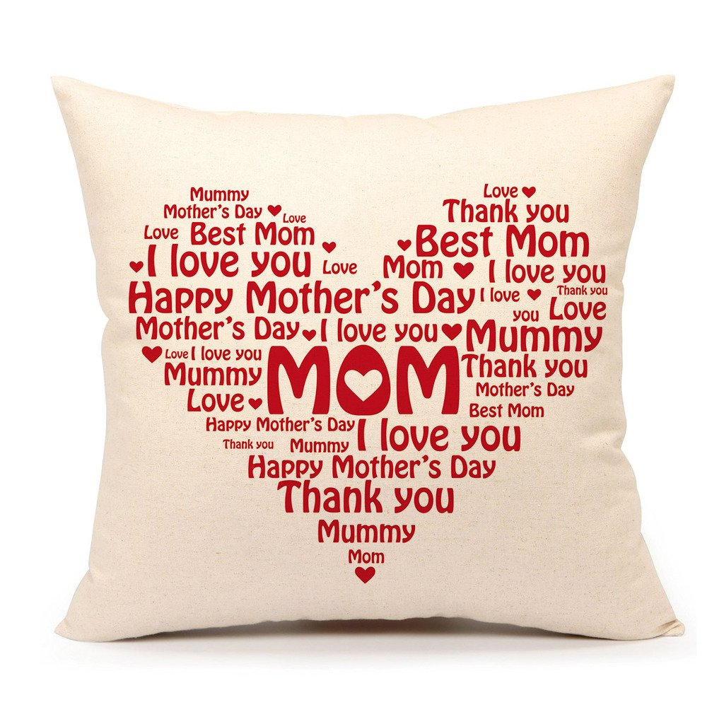 Happy Mother's Day Throw Pillow Case Cover - 18 x 18 Inch