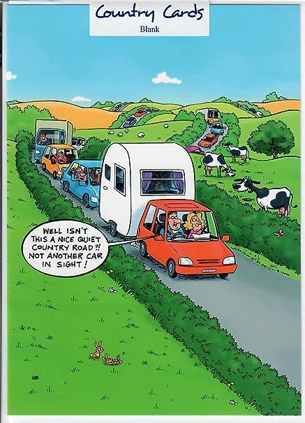 Conduite Caravane Humour Carte De Vœux Joyeux Anniversaire Amazon Fr Fournitures De Bureau