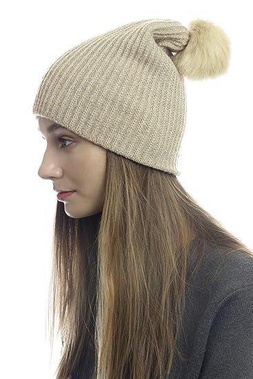 f70180c19cf4 Winter Knit Hat Beanie Cloie Metallic Ribbed Pom Pom Beanie Womens Girls at  Amazon Women's Clothing store:
