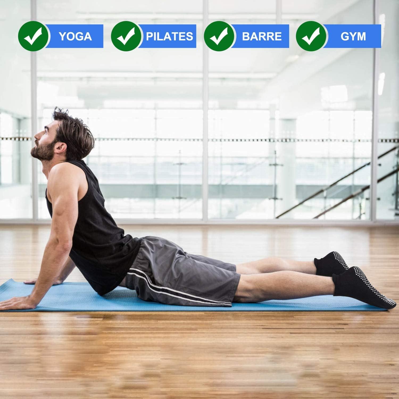 Hospital Anti Skid Sticky Grippers Socks with Grips for Yoga Hurriman Men Yoga Socks Non Slip Barre Pilates