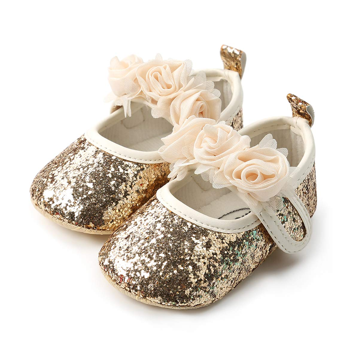QGAKAGO Infant Baby Girls Princess Patent-Leather Bowknot Soft Sole Mary Jane Shoes OJ-RWVD-YUH3