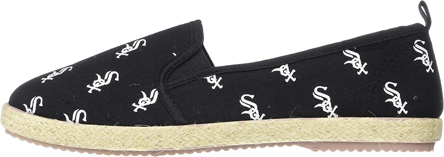 Team Color X-Large FOCO MLB Chicago White Sox Womens Espadrille Canvas Shoes