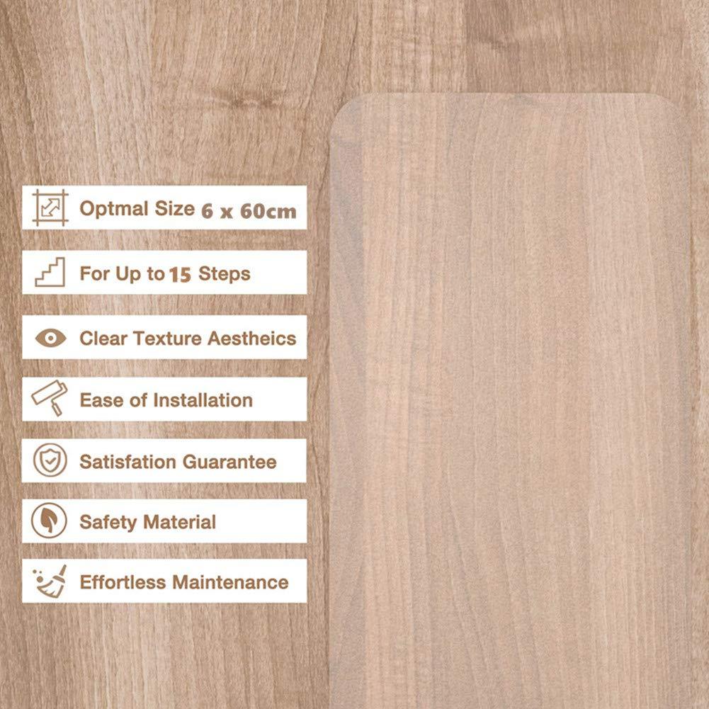 Haustiersicherheit Winiron Transparente Antirutschstreifen f/ür Treppen mit 15 Rollen Rutschfestes Klares Selbstklebendes Band f/ür Kinder /Älteste 15x60cm Installationsrolle enthalten