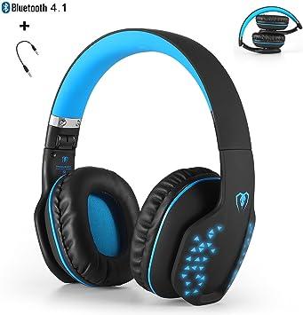 Bluetooth auriculares inalámbricos, yocuby plegable cancelación de ...