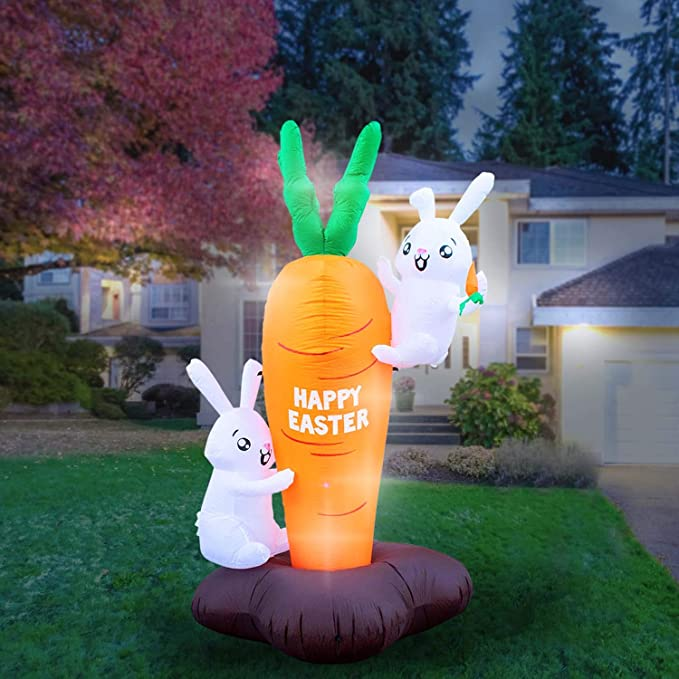 Inflatable 4 pcs Jumbo Carrots Stuffed Party Decor Display Easter Pool Toy
