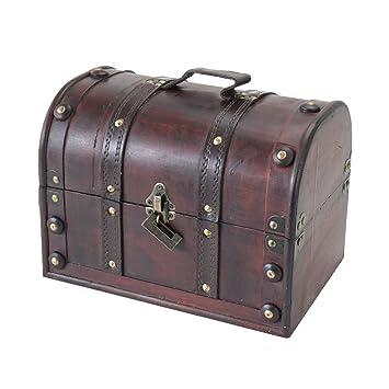 HMF – 6404 – 130 Cofre del Tesoro con candado, caja de madera Cofre del