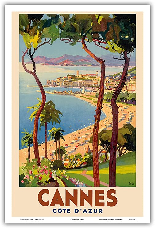 Cannes Film Festival Art Silk Poster 12x18 24x36