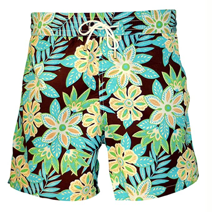 Bayahibe Bañador Diseño De Flores Color Azulverde Hojas Para