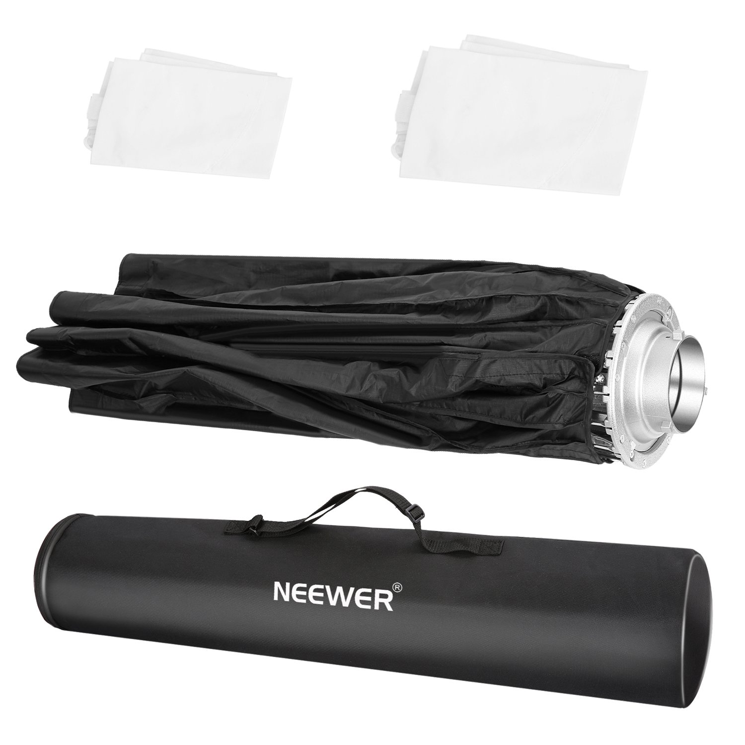 Removable Internal/&External Diffuser and Grid Neewer 38 inches Deep Parabolic Softbox with Bowens Mount Quick Folding Softbox Diffuser for Photography Speedlites Flash Monolight and More