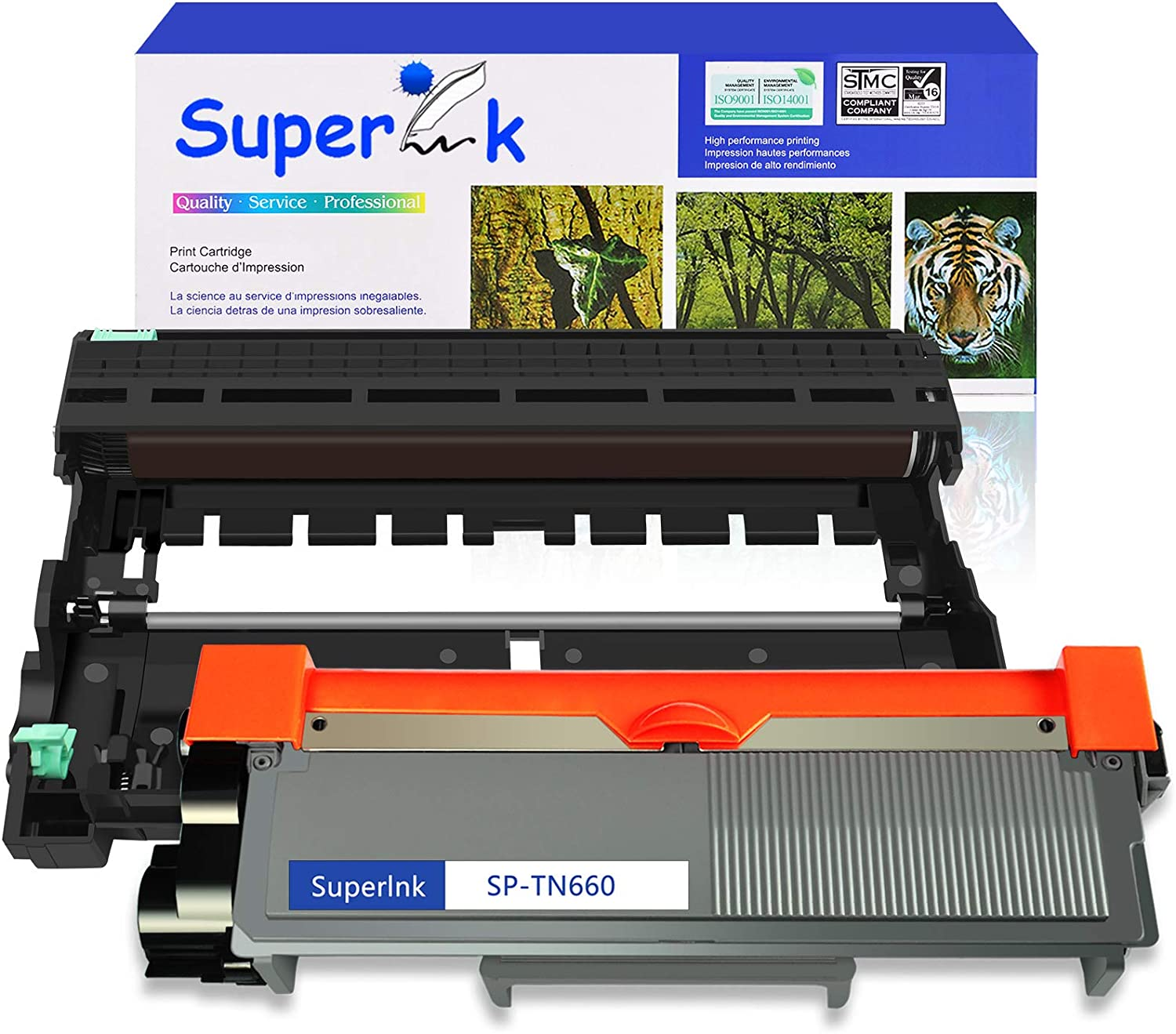 SuperInk Compatible Toner Cartridge and Drum Unit Set Replacement for Brother TN660 TN630 DR630(1 Toner,1 Drum) Use with HL-L2300D DCP-L2520DW DCP-L2540DW HL-L2360DW HL-L2320D HL-L2380DW MFC-L2707DW