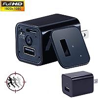 SC Camara Espia Oculta Tipo Cargador Mini Micro Monitor para Vigilancia y Seguridad Full HD 1080 con microfono