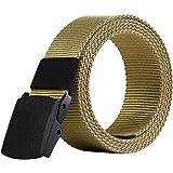 Gespout Ceinture Homme Tissu Femme Noir Casual Sans métal 110cm Pour Sports  Voyages Shoppings Jeans Différentes 44cc44a914c