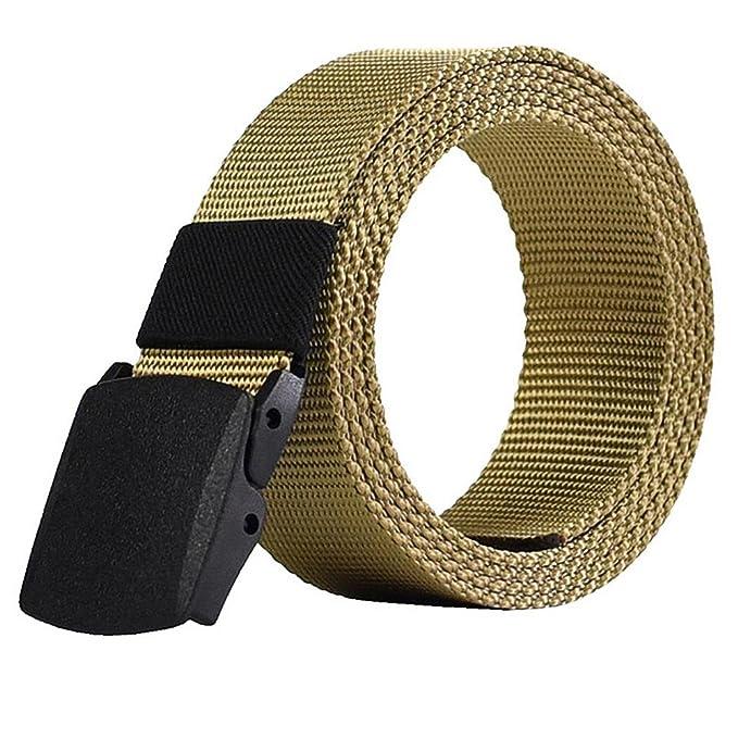 04ea4037c LeisialTM Hombre Cinturón de Lona Ocasional Cinturones Tactico Policia  Automática Hebilla de Plástico Deporte al Aire para Unisex  Amazon.es  Ropa  y ...