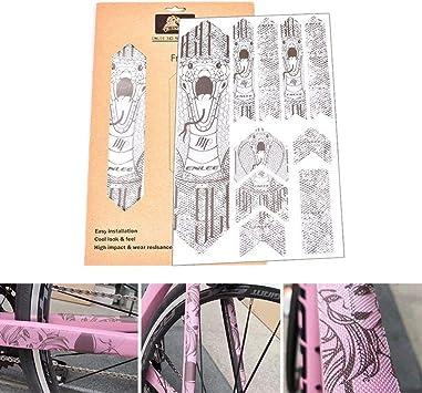 AOLVO calcomanías 3D para marco de bicicleta, para bicicleta de ...