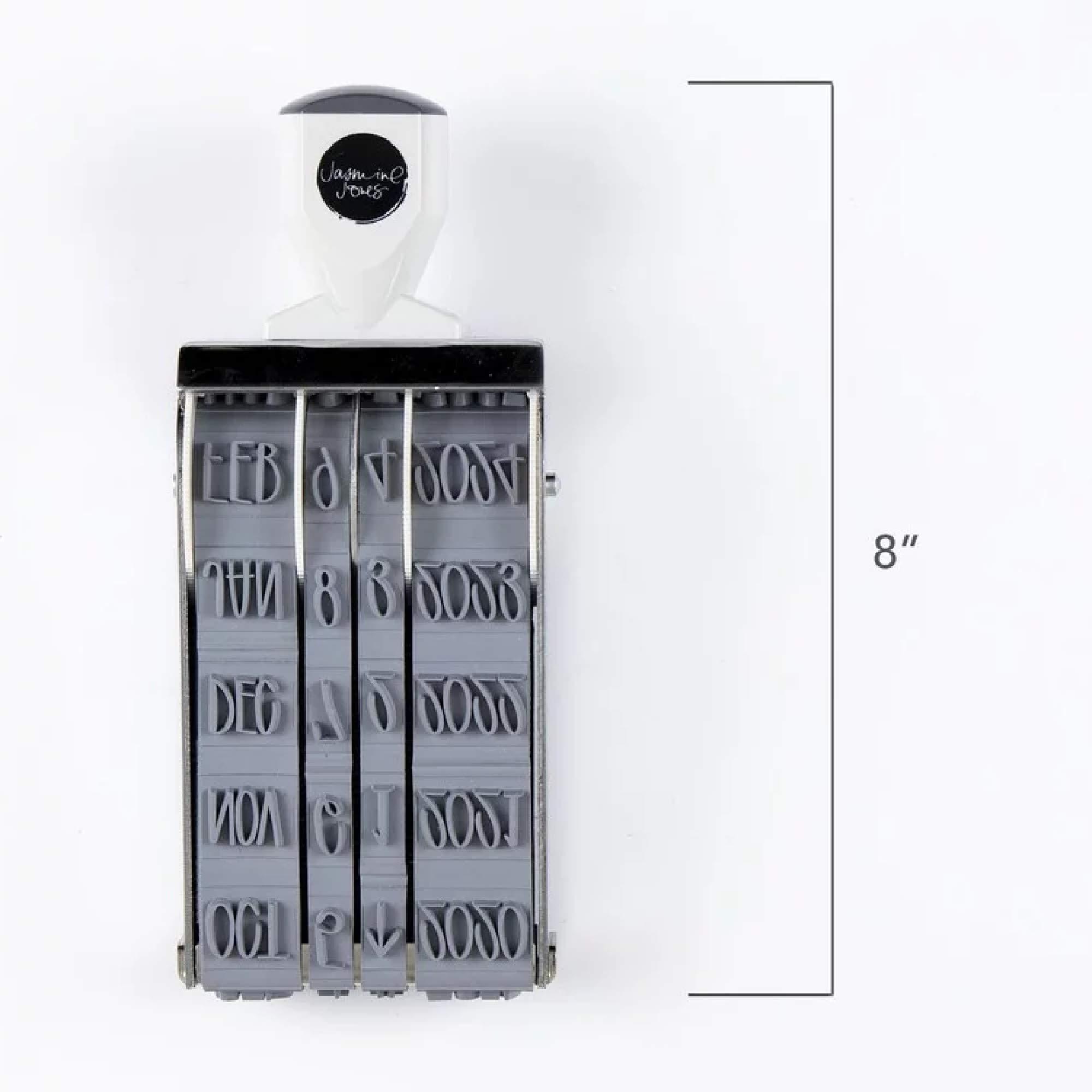 Studio Calico Oversize Mega Date Roller Stamp - Hand-Lettered