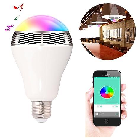 ewtto bluetooth remoto inteligente reproductor de música bombilla LED lámpara luz para noche fiesta