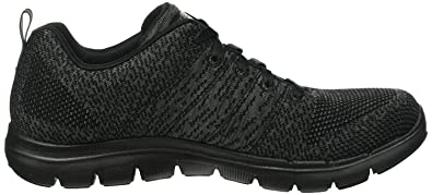 Skechers Flex Appeal 2.0 High Energy Black Womens Trainers 4