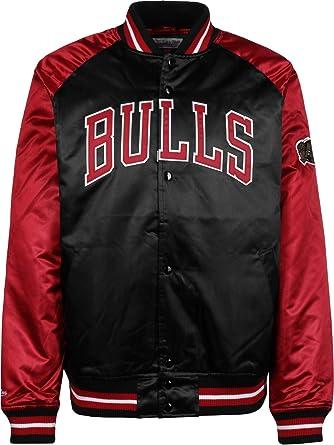 Mitchell   Ness Though Season Satin Chicago Bulls Chaqueta universitaria   Amazon.es  Ropa y accesorios 9ee25d0d9f41