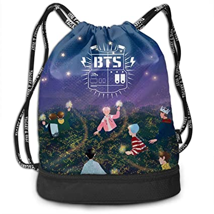 42e56ec05852 Amazon.com: Quxiangy BTS Bangtan Boys Kpop Drawstring Bag Fashion ...